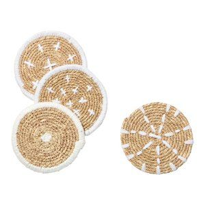 Bloomingville Coasters - Woven Seagrass - Set of 4